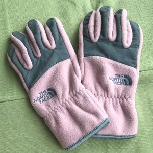 Women's Pink/Gray North Face Gloves Size Large